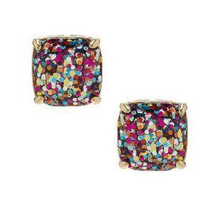 Kate Spade Multi Glitter Mini Square Earrings